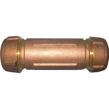 "3/8"" Long Brass Dresser Coupling"