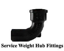 Service Weight Hub Fittings