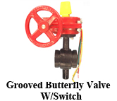 Grooved Butterfly Valve W/Switch