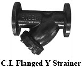 C.I. Flanged Y Strainer