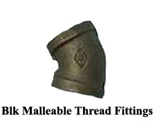 Blk Malleable Thread Fittings