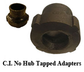 C.I. No Hub Tapped Adapters