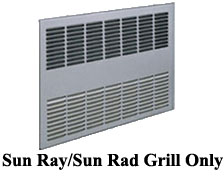 Sun Ray/Sun Rad Grill Only